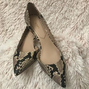 Aldo snake skin kitten heels